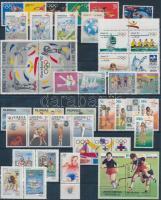 Olympics 42 stamps + 1 block on 2 stock cards, Olimpia motívum 42 db bélyeg és 1 db blokk 2 stecklapon