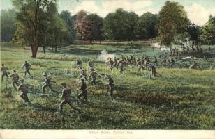 Culver, Ind. Sham Battle, military school practice, Katonai iskolai gyakorlat