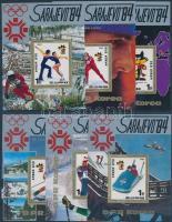 1983 Téli olimpia, Szarajevó (II) blokksor Mi 166-171
