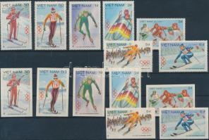 1984 Téli olimpia vágott+fogazott sor Mi 1402-1408