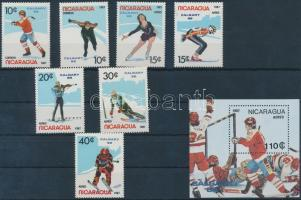 1987 Téli olimpia, 1988 sor Mi 2738-2744 + blokk 172