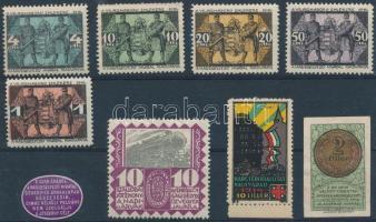 9 db I. világháborús segélybélyeg