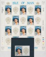 1990 Erzsébet anyakirálynő 90. születésnapja szelvényes bélyeg + kisív Mi 437