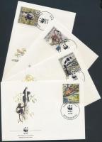1988 WWF: lemúr sor Mi 1110-1113 A 4 FDC-n