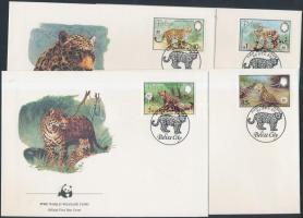 1983 WWF: jaguár sor Mi 719-722 4 FDC-n