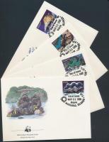 1986 WWF: csigák és kagylók sor Mi 73-76 4 FDC-n
