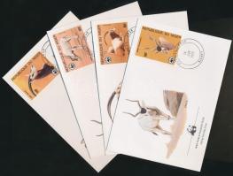 1985 WWF: Antilop sor Mi 941-944 4 FDC-n