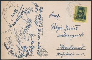 1946 (5.díjszabás) Képeslap Kisegítő (III) 40P/8f bérmentesítéssel