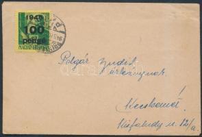 1946 (5.díjszabás) Távolsági hölgy levél Kisegítő (III) 100P/12f bérmentesítéssel