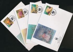 1993 WWF: tengeri élővilág sor Mi 61-64 4 FDC-n