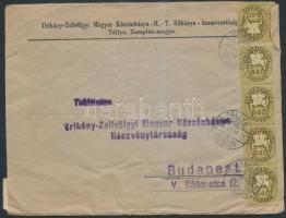 1946 (15.díjszabás) Távolsági céges levél Lovasfutár 8x50eP + 15x640eP bérmentesítéssel / Domestic business cover franked with 23 stamps