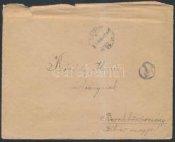 1945 (2.díjszabás) Portós távolsági levél T portóbélyegzéssel, érdekes tartalommal