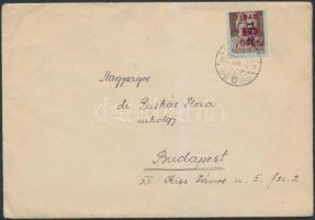 1946 (8.díjszabás) Távolsági levél Betűs (II) Tlp.2./4f + 6xTl.2./10f bérmentesítéssel