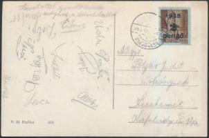 1945 (2.díjszabás) Távolsági képeslap Kisegítő (II) 2P/4f bérmentesítve