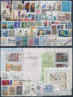 1982 Europa CEPT, Történelmi események teljes évfolyam kiadásai 6 db blokkal, 3 db steckalpon