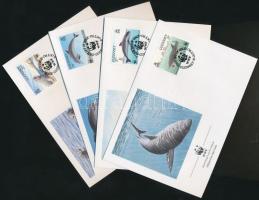 1990 WWF: Tengeri élővilág sor Mi 497-500 4 FDC-n