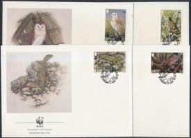1989 WWF: Ritka állatfajták sor Mi 480-483 4 FDC-n