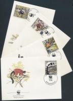 1988 WWF: Lemúrok sor Mi 1110-1113 A 4 FDC-n