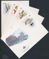 1984 WWF sor Mi 1066-1069 4 FDC-n