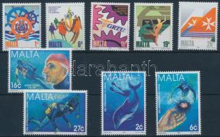 1998 19 klf bélyeg teljes sorokban + 2 klf blokk (2 stecklapon)