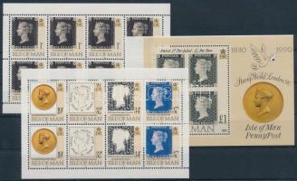 1990 150 éves a bélyeg 3 db bélyegfüzetlap H-Blatt 21-23 (Mi 431, 432, 433-436)