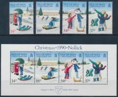 1990 Karácsony sor Mi 448-451 + blokk 14