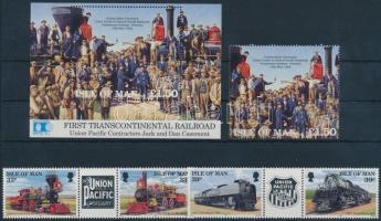 1992 Mozdony sor ívközéprészes párokban Mi 512-515 + blokk 17 + blokkból kitépett bélyeg 516