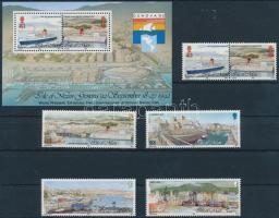 1992 Kikötők sor Mi 517-520 + blokk 18 + blokkból kitépett bélyeg 521-522