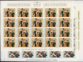 1980 Népviselet (II) kisívsor Mi 754-756