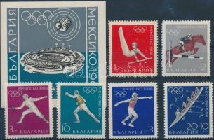 Summer Olymopics perforated set + imperforated block, Nyári olimpia fogazott sor + vágott blokk