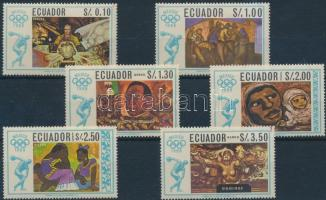 1967 Nyári olimpia sor Mi 1313-1318