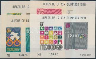 1968 Nyári olimpia 4 klf vágott blokk Mi 15-18