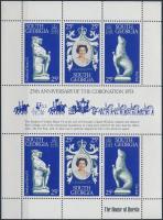 II. Erzsébet trónralépésének 25. évfordulója kisív 25th anniversary of the Coronation minisheet