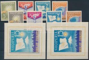 1964 Nyári olimpia, Tokió fogazott és vágott sor Mi 823-826 + 828-831 + blokk 22-23