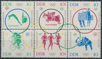 1964 Tokiói olimpia hatostömb Mi 1039-1044