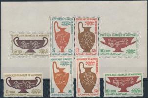 1964 Nyári olimpia, Tokió sor Mi 232-235 + blokk 2