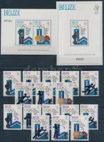 1979 Téli Olimpia, Lake Placid fogazott és vágott sor Mi 443-450 A, B + blokk 12-13