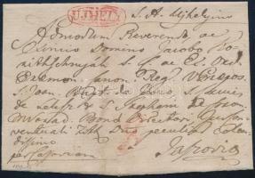1819-40 Portós levél piros / red UJHELY - Jaszovia