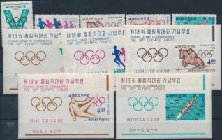 1964 Tokiói olimpia sor Mi 457-461 + blokk sor 194-198
