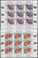 2005 Gyümölcs kisív sor Mi 360-363