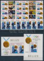 1979 Téli Olimpia, Lake Placid fogazott sor ívközéprészes párokban + vágott sor Mi 501-508 A, B + blokk 20-21