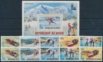 1979 Téli Olimpia, Lake Placid sor + felülnyomott változata Mi 685-689, 700-704 + blokk 26