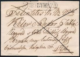 1846 Franco levél tartalommal / with content NYÍREGYHÁZA - PESTH