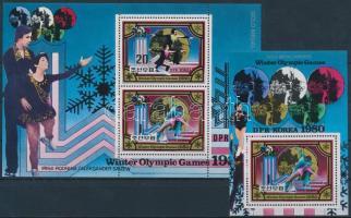 1980 Téli Olimpia, Lake Placid kisív Mi 2038-2039 + blokk 80