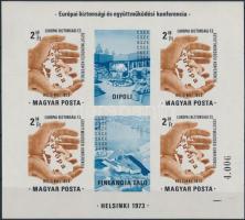 1973 Helsinki vágott blokk
