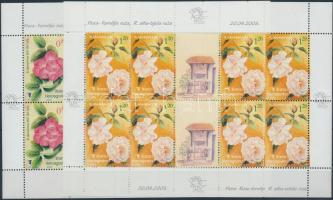 2005 Virág; Rózsa kisív sor Mi 385-386