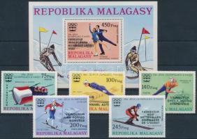 1976 Téli Olimpia, Innsbruck sor Mi 802-806 + blokk 13