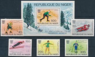 1976 Téli Olimpia, Innsbruck sor Mi 506-511 + blokk 12