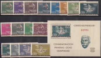 1963 Sport sor Mi 1160-1175 + blokk 34