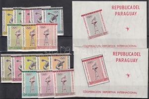 1962 Sport sor Mi 1103-1118 + blokk sor 28-29